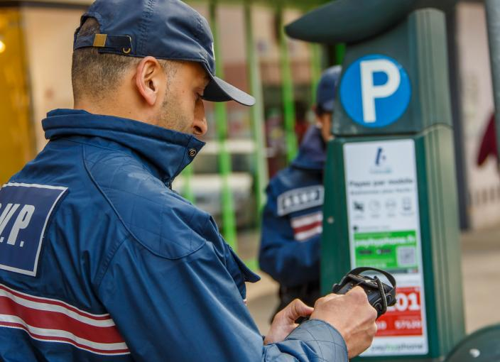 police municipale et pay by phone